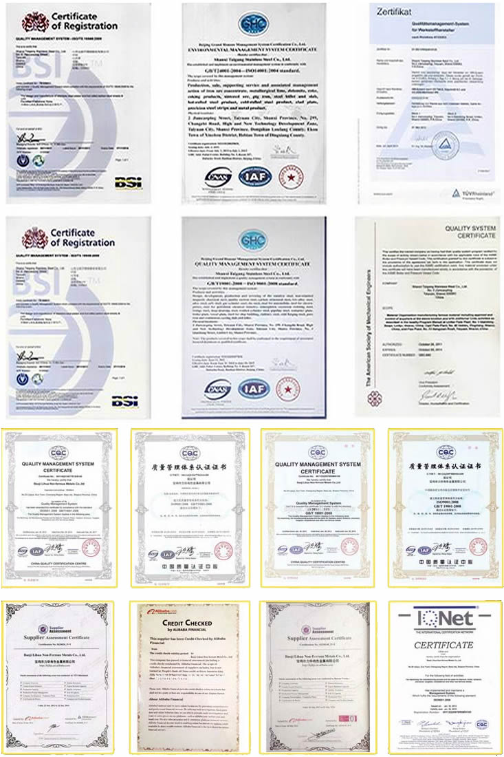 Steel Pipe Seller Certifications